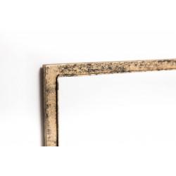 Espejo de pared dorado envejecido con perchero