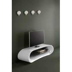 Mesa de TV de  diseño Claudia en  fibra de vidrio