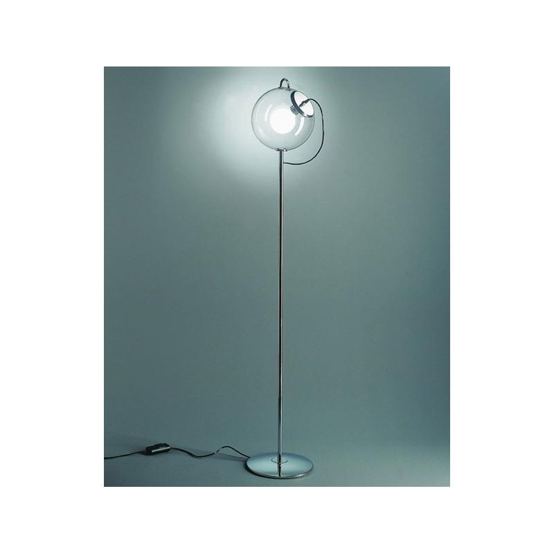 Lámpara de pie esfera de cristal estilo Retro