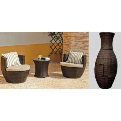 Casa de hoy muebles de dise o y lamparas de dise o for Conjuntos de jardin de rattan sintetico