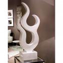 Escultura abstracta Blanca Alta