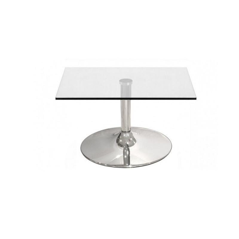 Mesa baja de centro cristal/cromado