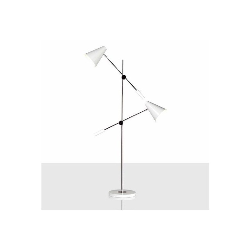 Lámpara de pie moderna blanca 2 focos