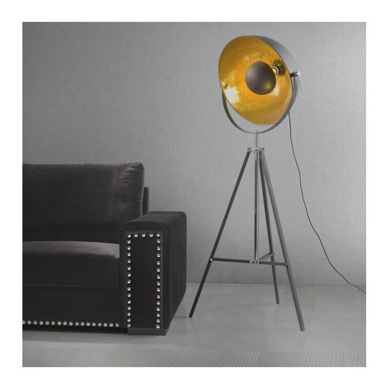 Lámpara de pie tripode gran foco
