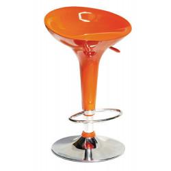 Taburete de diseño en abs  color naranja