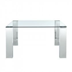 Mesa BETSY-TR cristal y acero cromado 160x90 cms