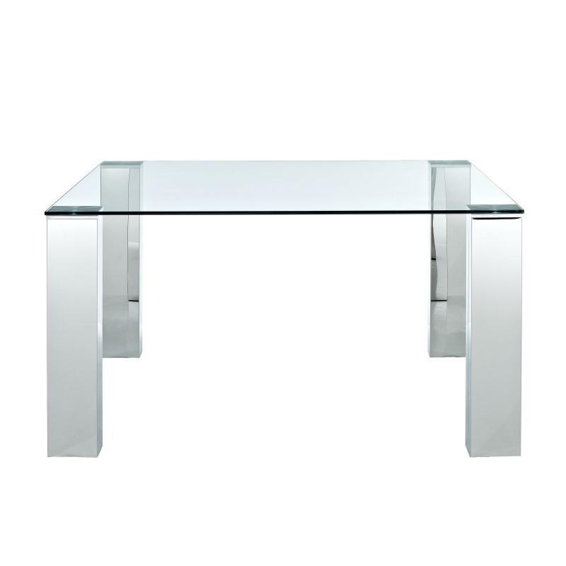 Mesa BETSY-TR  cristal y acero cromado 150x90 cms