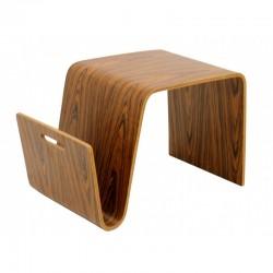 Mesa NEREA baja fabricada en madera curvada natural
