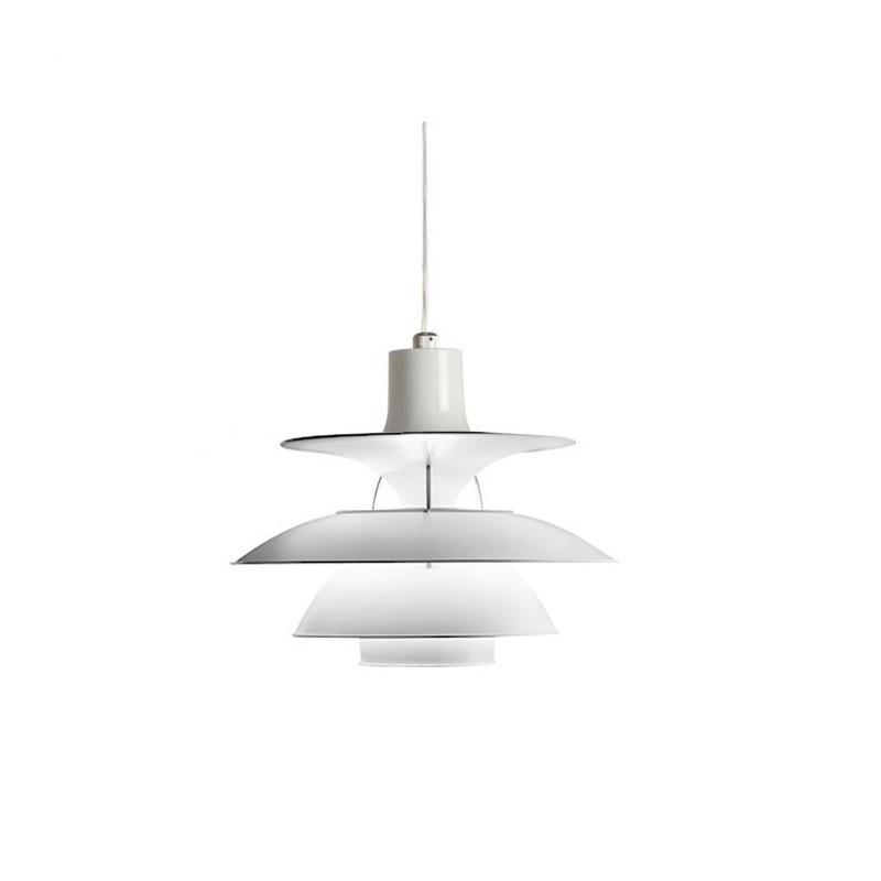 Lámpara KEPLER-BL aluminio blanca, 35 cms de diámetro