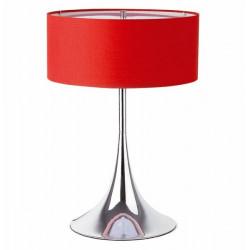 Lámpara AMAIA-M de sobremesa cromada color rojo