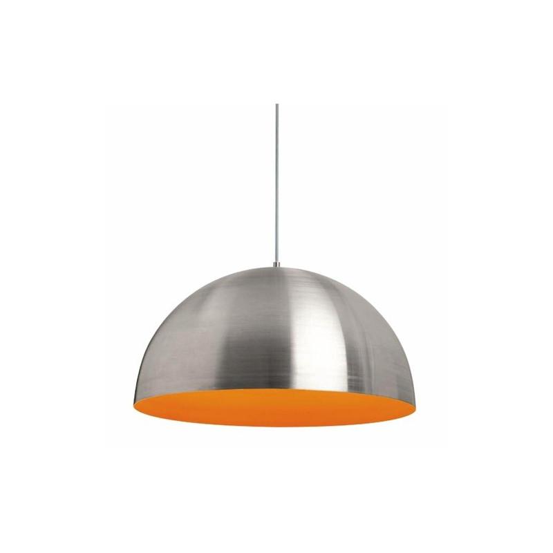 Lámpara colgante aluminio y naranja