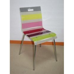Silla PANTONE fabricada en acrílico multicolor