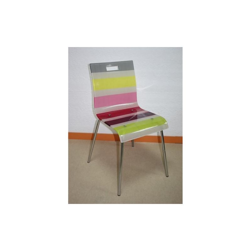Silla pantone fabricada en acr lico multicolor for Sillas de acrilico