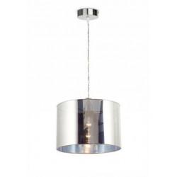 Lámpara colgante PLUS-T con pantalla cromada