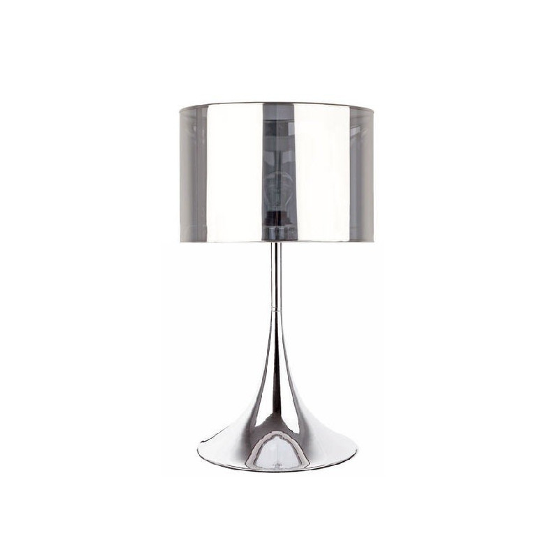 Lámpara de sobremesa PLUS-M con pantalla cromada