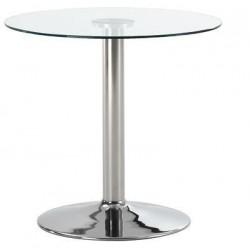 Mesa BERNIE con tapa de cristal