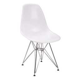 Silla TOWER fabricada en ABS color blanco
