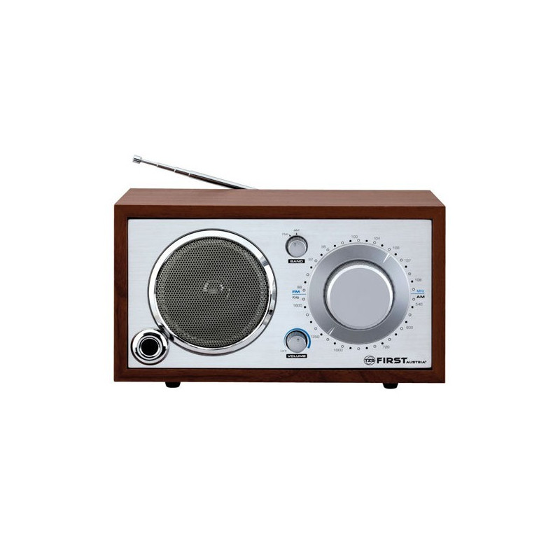 Radio tipo retro portatil en color crema