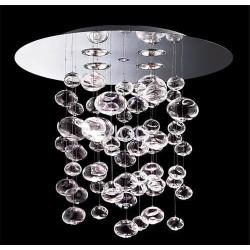 Lámpara ALDRIN de diseño, cristal, cromada