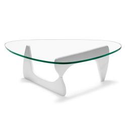 Mesa NOG de diseño lacada en blanco.