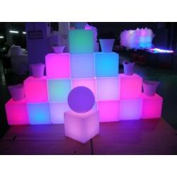 Cubo retroiluminado con luz de led