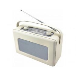 Radio analógica recubierta de piel sintética color crema