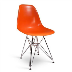 Silla TOWER fabricada en ABS color naranja