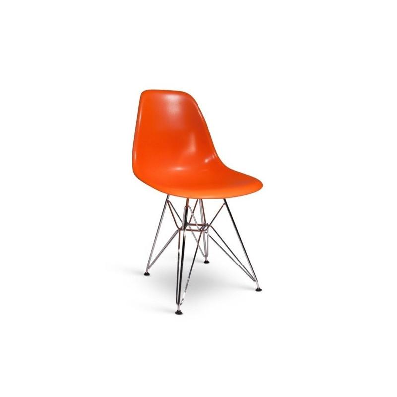 Silla TOWER fabricada en ABS color naranja