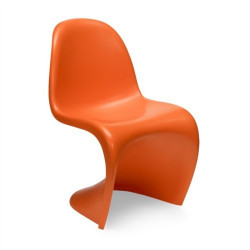 Silla estilo panton fabricada en abs mate color naranja
