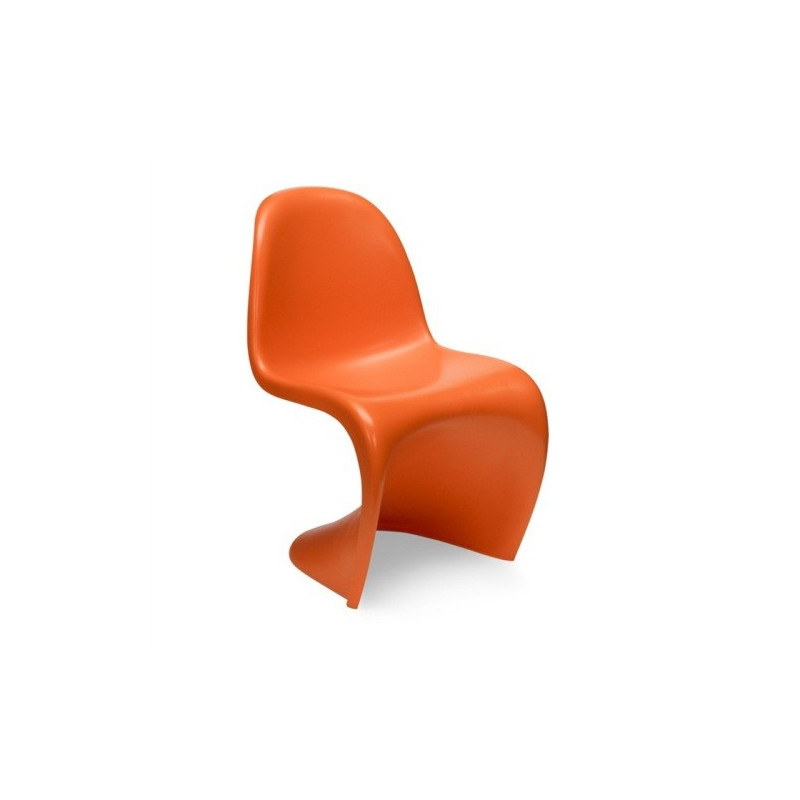 silla estilo panton fabricada en abs mate color naranja. Black Bedroom Furniture Sets. Home Design Ideas