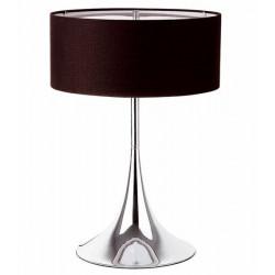 Lámpara AMAIA-M de sobremesa cromada color negro