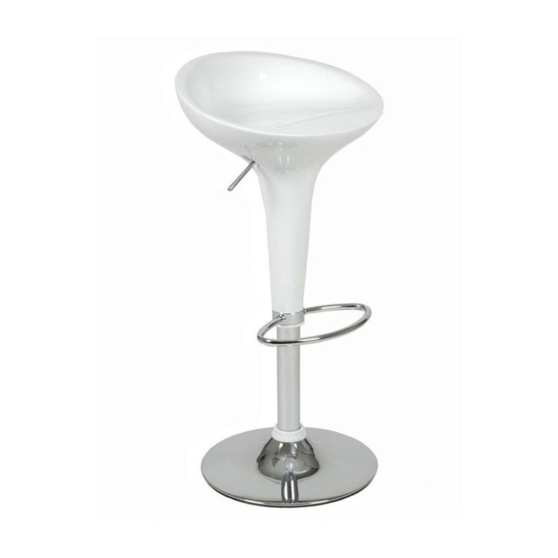 Taburete de diseño en abs inyectado color blanco